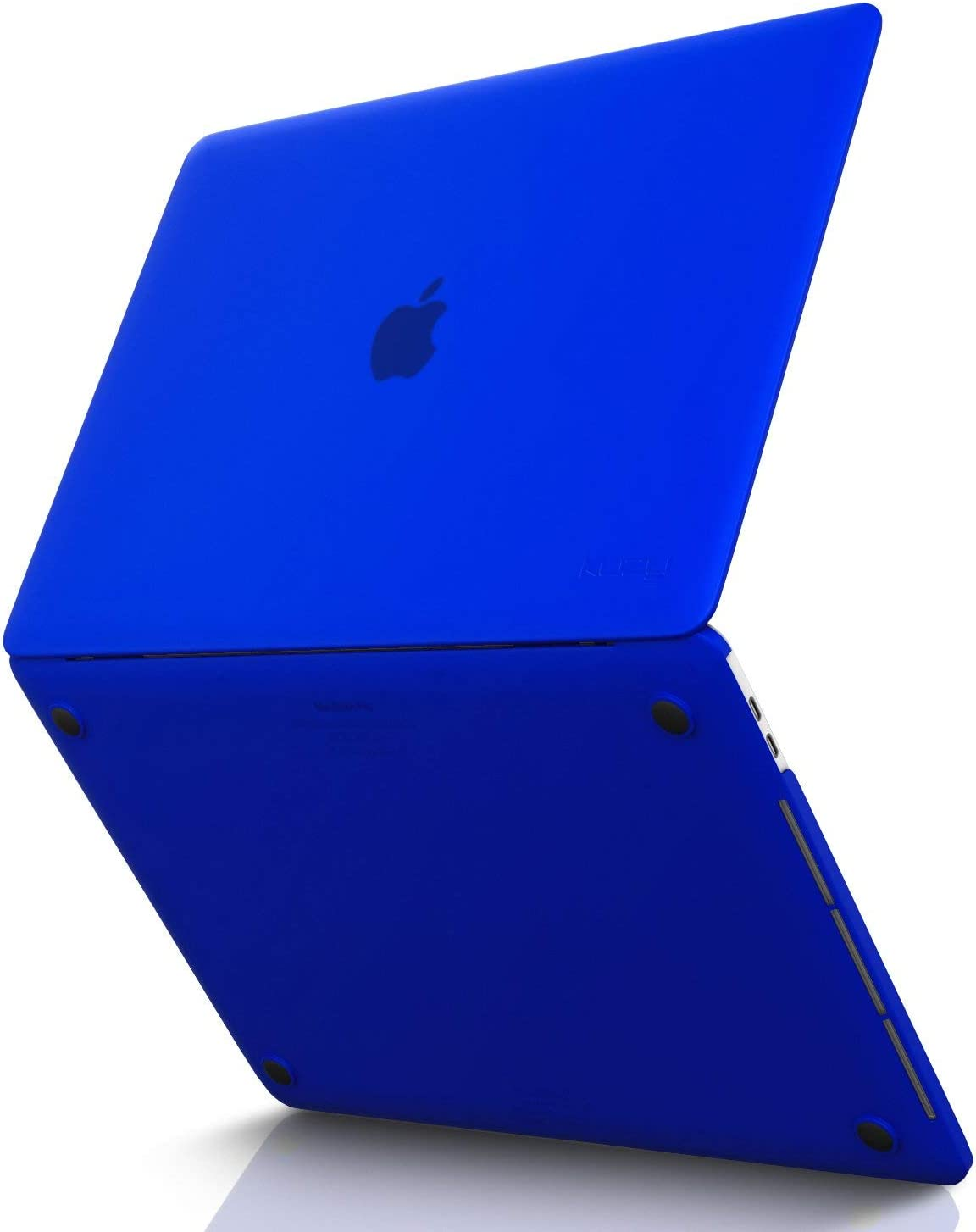 Kuzy MacBook Pro 15 inch Case 2019 2018 2017 2016 Release A1990 A1707, Hard Plastic Shell Cover for Newest MacBook Pro 15 case with Touch Bar Soft Touch - Blue