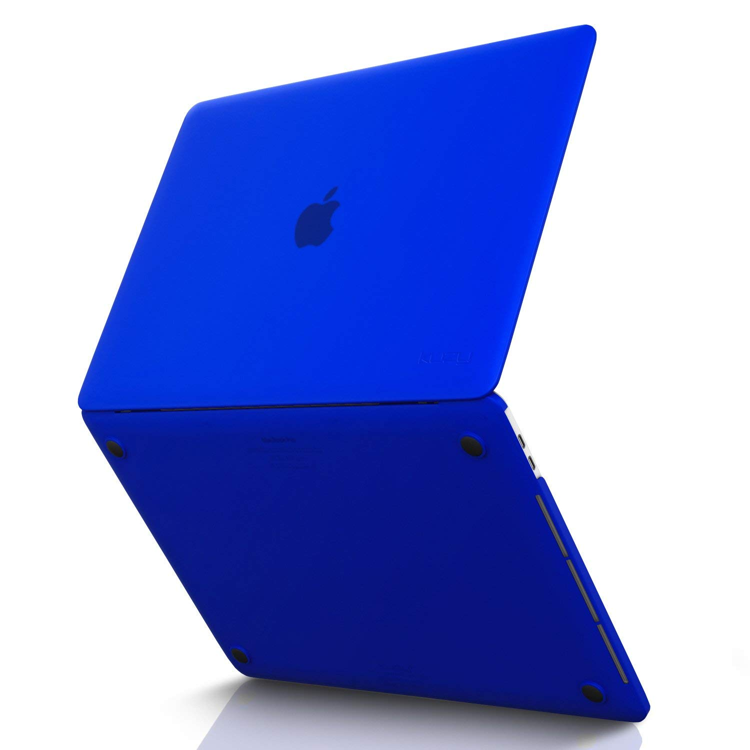 MacBook Pro 15 inch Case 2019 2018 2017 2016 Release A1990 A1707, Kuzy Hard Plastic Shell Cover for Newest MacBook Pro 15 case with Touch Bar Soft Touch - Blue