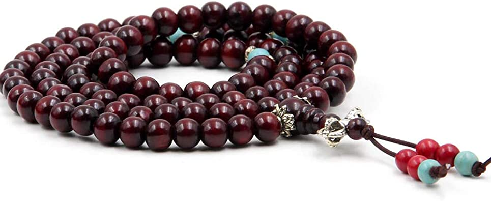 108PCS 6,8mm AAA Mahogany Red Rosewood Prayer Buddha Mala Meditation Beads Round Loose Beads E108