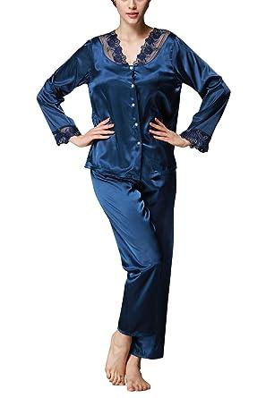estilo novedoso baratas para descuento despeje Dolamen Pijamas para Mujer, Mujer Satin Camisones Pijamas ...