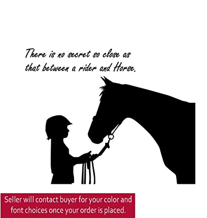 Horse quote decal sticker vinyl wall horse decal 25 X 28 inches