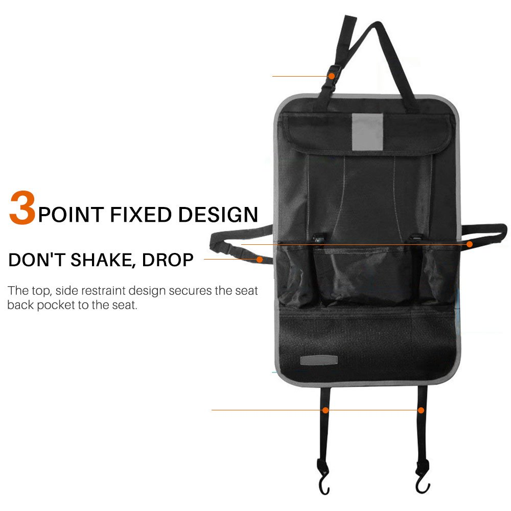 Back Seat Protector//Kick Mat//Car Organizer Kick Mats Car Organiser Back Seat Premium Car Back Seat Organizer for Travel With Baby Storage Bags iPad mini Holder