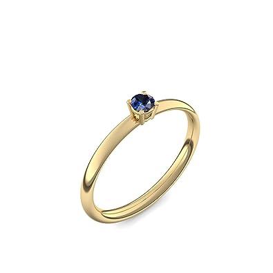 + con Estuche + - oro anillos zafiro anillos (oro 585) - Concinnity Amoonic AM161 GG585SAFA: Amazon.es: Joyería