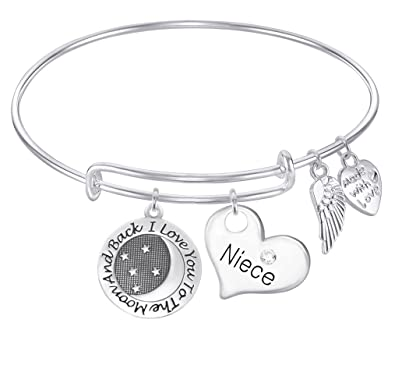Amazon Com Niece I Love You To The Moon And Back Expandable Wire