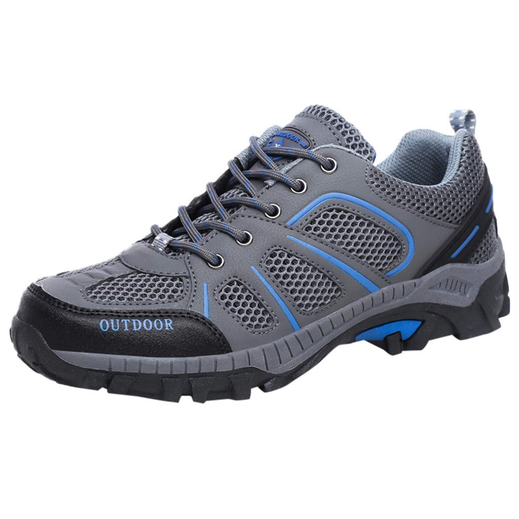 GINELO Summer New Couple Breathable Outdoor Leisure Hiking Quick-Drying Non-Slip Wear Sports Walking Shoes Grey by GINELO