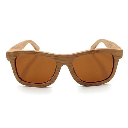 f8113736d1 LHHMZ Hombre/Mujer Gafas de Sol de Madera de bambú genuinas polarizadas  Gafas de Sol