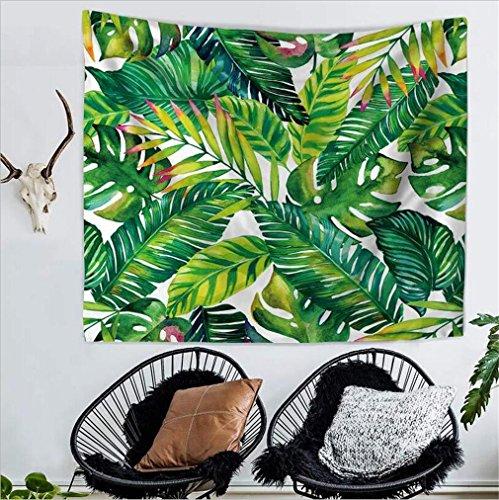 Banana Leaf Wall - Leaf Tapestry Wall Hanging Palm Leaf Tapestry Banana Leaf Tapestry Wall Tapestry for Living Room Bedroom Dorm Decor