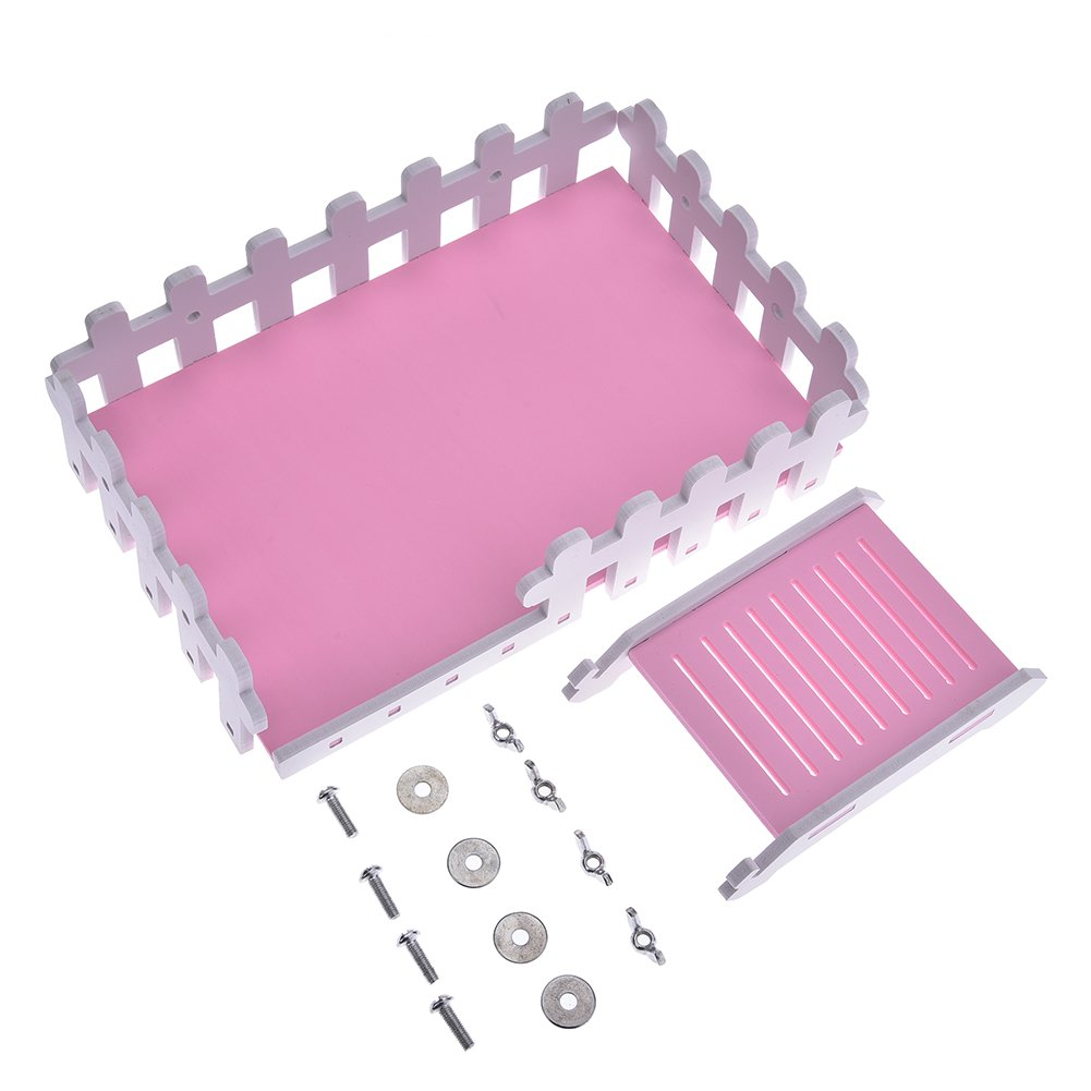 Yunt Pet Toy Platform Cute Climbing Kits Hamster Crawling Ladder Swing Platform Toys for Hamster Hedgehogs Totoro Squirrel Pink by Yunt (Image #6)