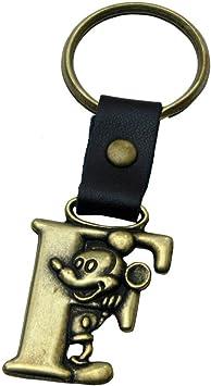 Amazon.com: Mickey Mouse Letra F Disney Llavero de latón ...