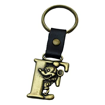 Mickey Mouse Letter F Disney Brass Keychain
