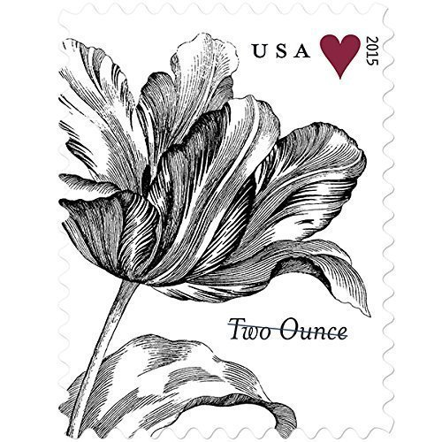 (Vintage Tulip Sheet of 20 Two-Ounce Rate U.S. Postage Stamps)