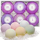 Bath Bombs Gift Set - 6 Vegan, Handmade, All Natural and Organic - Ideal Gift for Her: Women, Teen Girls - Ultra Lush Spa Fizzes - Add to Bath Bubbles - Bath Basket