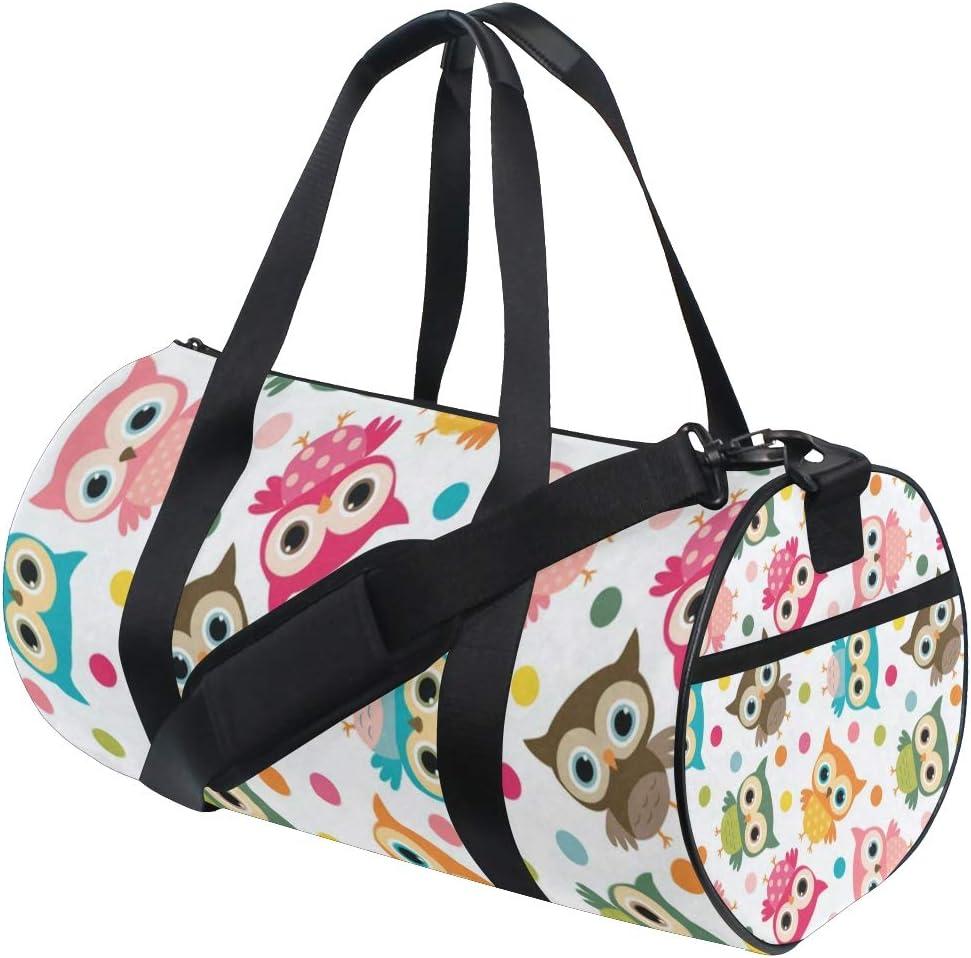 Duffel Bags Colorful Bird Womens Gym Yoga Bag Small Fun Sports Bag for Men