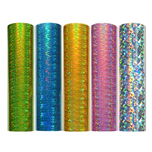 Holographic Starlight Adhesive Vinyl 12 x 12 5 Sheets/Pack for Craft