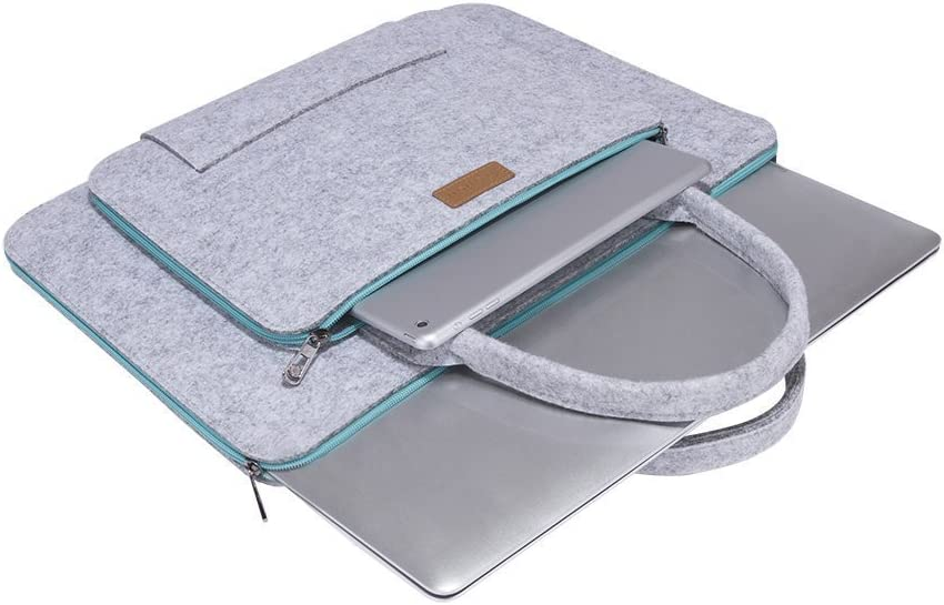 Schwarz und Cremewei/ß Ropch 15 15,6 Zoll Laptoptasche Filz Notebooktasche Aktentasche Laptoph/ülle Laptop Schutzh/ülle Notebook Sleeve H/ülle Tasche f/ür 15-15,6 Zoll Acer// Asus// Dell// HP// Lenovo