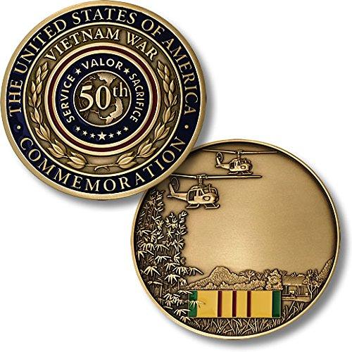 Vietnam 50th Anniversary Commemorative Partner - Vietnam Veteran Engravable Challenge Coin