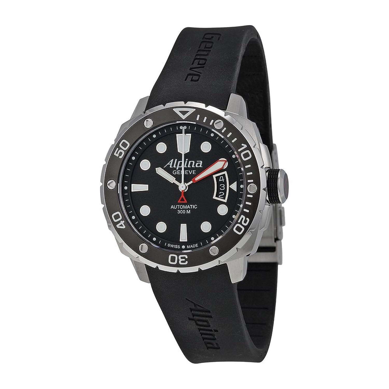 Alpina Seastrongダイバー300自動ブラックダイヤルゴムメンズ時計al-525lb4 V36 B00PFWV33Q