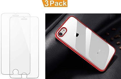 JISER [Pack 3] Funda iPhone 7 Plus / 8 Plus + Protector de ...