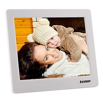 Marco de Fotos Digital 8 Pulgadas IPS Multifuncional Resolución 1024X768 con Control Remoto Reloj Calendario Despertador