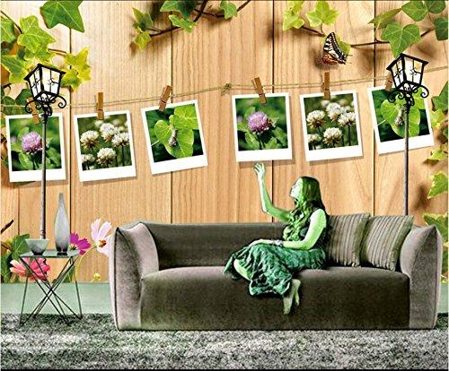 XLI-You 3D Wallpaper Custom Photo 3D Wallpaper Mural Wall Sticker Vines Swirl The Outdoor Garden Painting 3D Wall Room Murals Wallpaper Sticker Mural ()