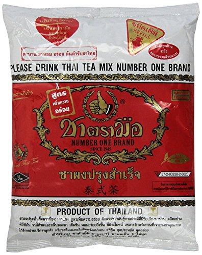 Thai filtro de té de acero inoxidable estilo tradicional tailandés con número uno el Original tailandés té helado mezcla (Cha tra Mue - 400 g): Amazon.es: ...