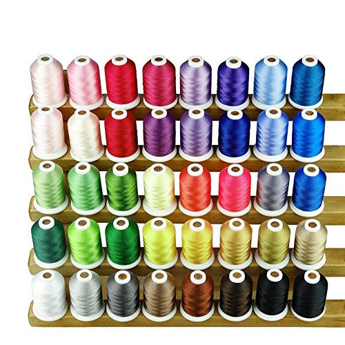 Spools Polyester Embroidery (Sinbel Polyester Embroidery Machine Thread (40 colors))