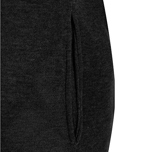 Larga Deporte Entrenamiento Casual Deportiva Tops Camisa Camisetas Alto Con Manga Sudadera Capucha Negro1 Otoño Cuello Shallgood Mujer Largo BqvZwZ7g
