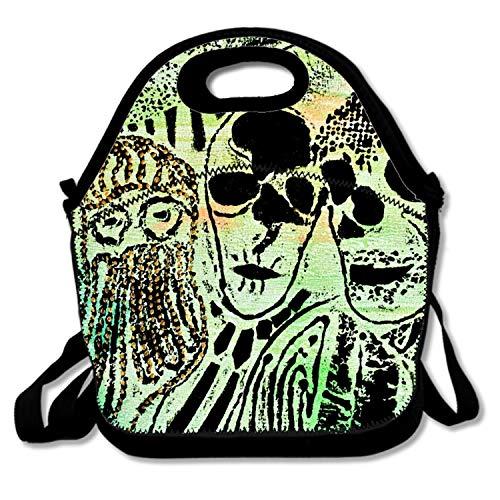FONDTHEE Insulated Lunch Bag Tote Dark Skull Horror