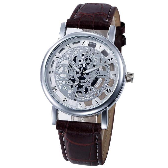 Coconano Relojes Mujer Baratos, Relojes de Pulsera de Acero Inoxidable de Cuarzo Analógico Hueco Para Mujer: Amazon.es: Ropa y accesorios