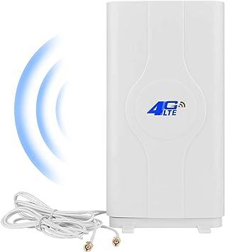 NETVIP 4G Antena SMA 4G LTE Antena Dual Mimo WiFi Signal Booster Amplificador De Red para WiFi Router Recepción De Banda Ancha Móvil De Larga ...