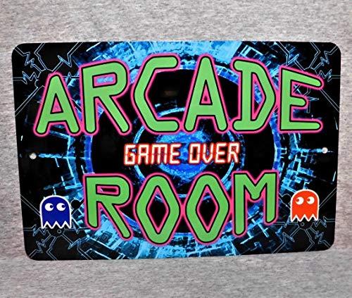 Sconosciuto Targa in Metallo Arcade Camera Videogiochi Penny Moneta operata Giocatore Macchina da Gioco Moneta Vintage Anni 80 Garage Uomo Grotta placca Alluminio 12 x 18