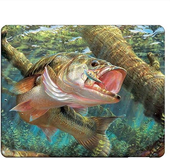 FISH Fishing Mouse Pad Bass Anti slip optical  COMPUTER  9 X 7 inch fisherman angler