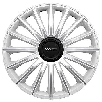 Sparco spc1492sv Set Rueda Cubre Torino Tapacubos (14), Color Plateado: Amazon.es: Coche y moto