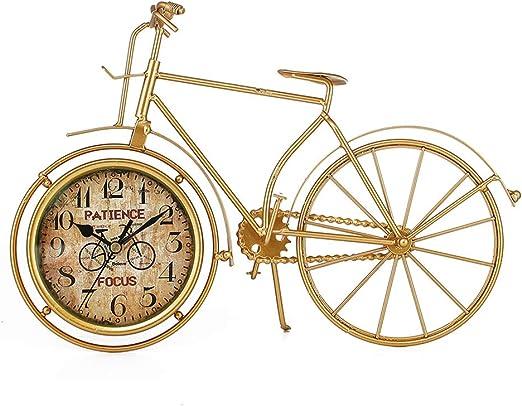Relojes de escritorio Bicicleta De Oro para El Hogar Decoración ...