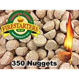 "Lightning Nuggets n350 Fire Starter Box Bulk 2"" x 2"" x 1.25"" Tan"