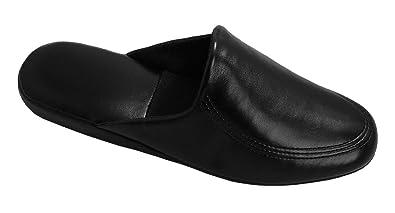 Leichte Herren Pantoffeln Hausschuhe schwarz mit - weicher Sohle Gr. 40 - mit 46 d781af