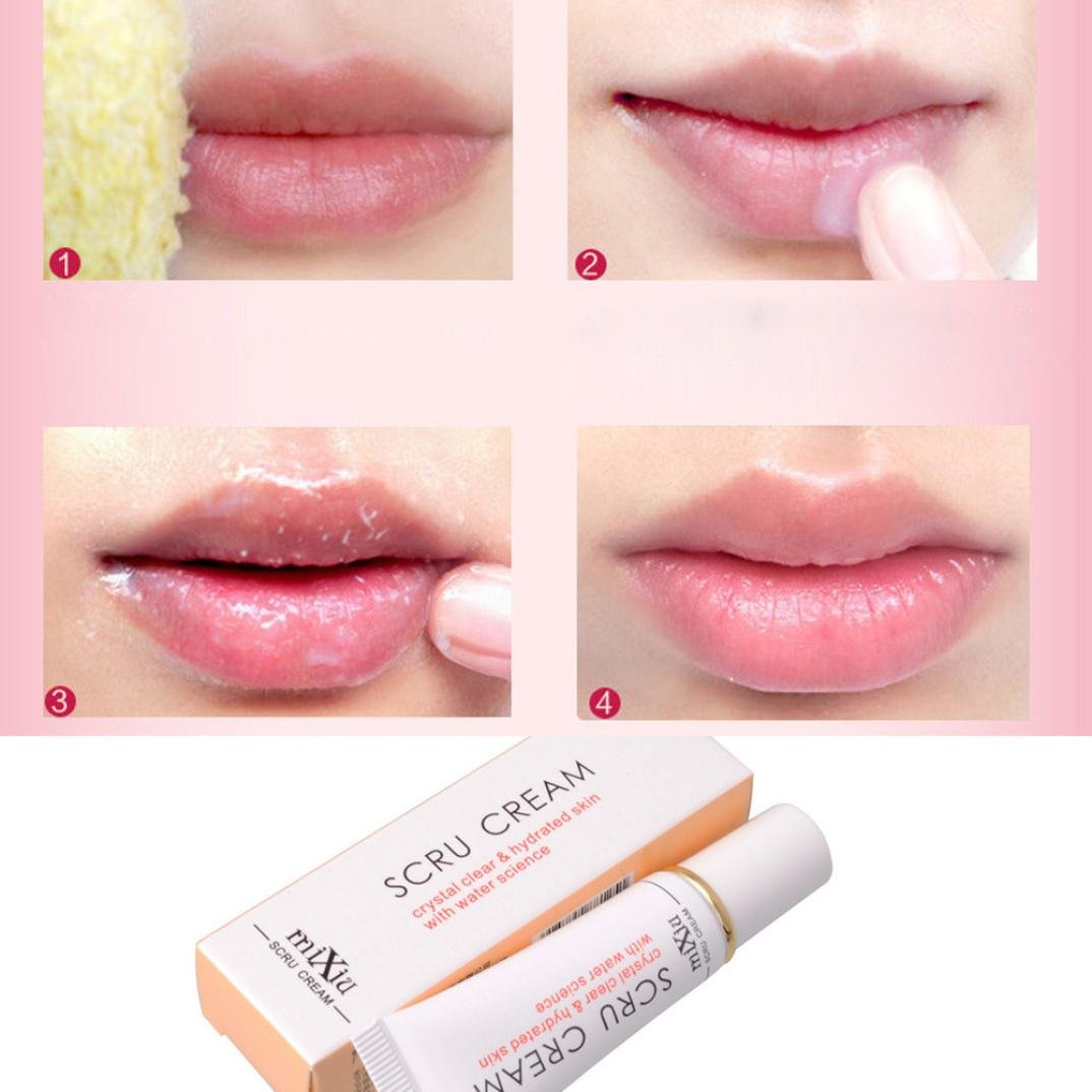 XILALU Beauty Lip Scrub Removal Horniness Water Science lips Exfoliating Gel (White)
