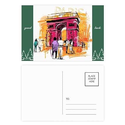 DIYthinker Arco del Triunfo París Francia Dibujo de la mano ...
