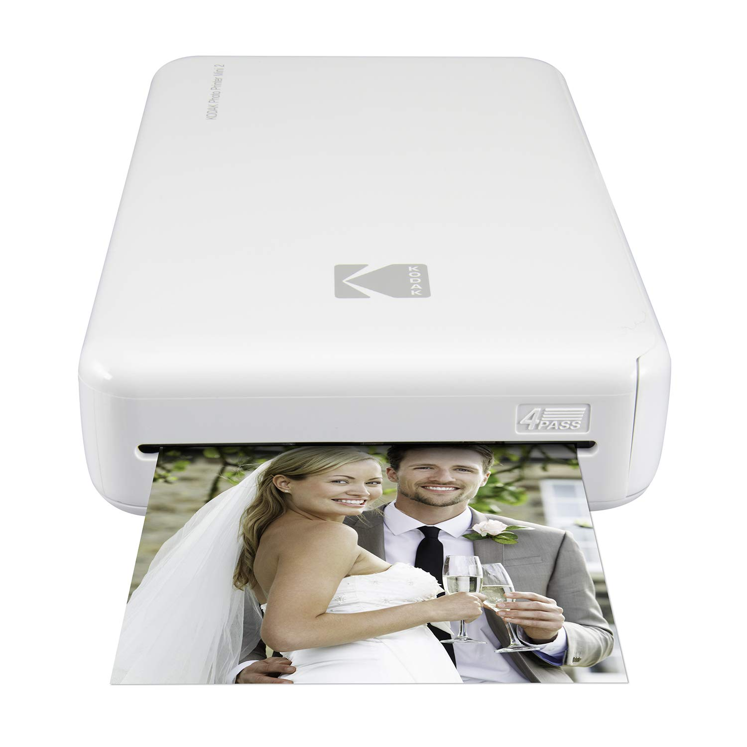 Kodak Mini 2 HD Wireless Portable Mobile Instant Photo Printer, Print Social Media Photos, Premium Quality Full Color Prints - Compatible w/iOS & Android Devices (White) by KODAK