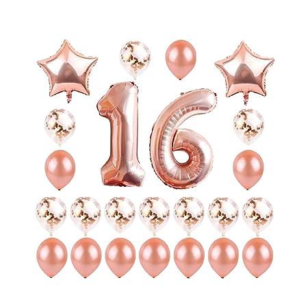 Amosfun - 23 piezas de decoraciones de 50 cumpleaños para ...