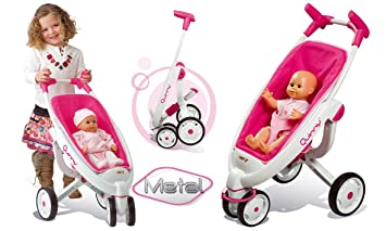 poussette double 3 roues quinny smoby