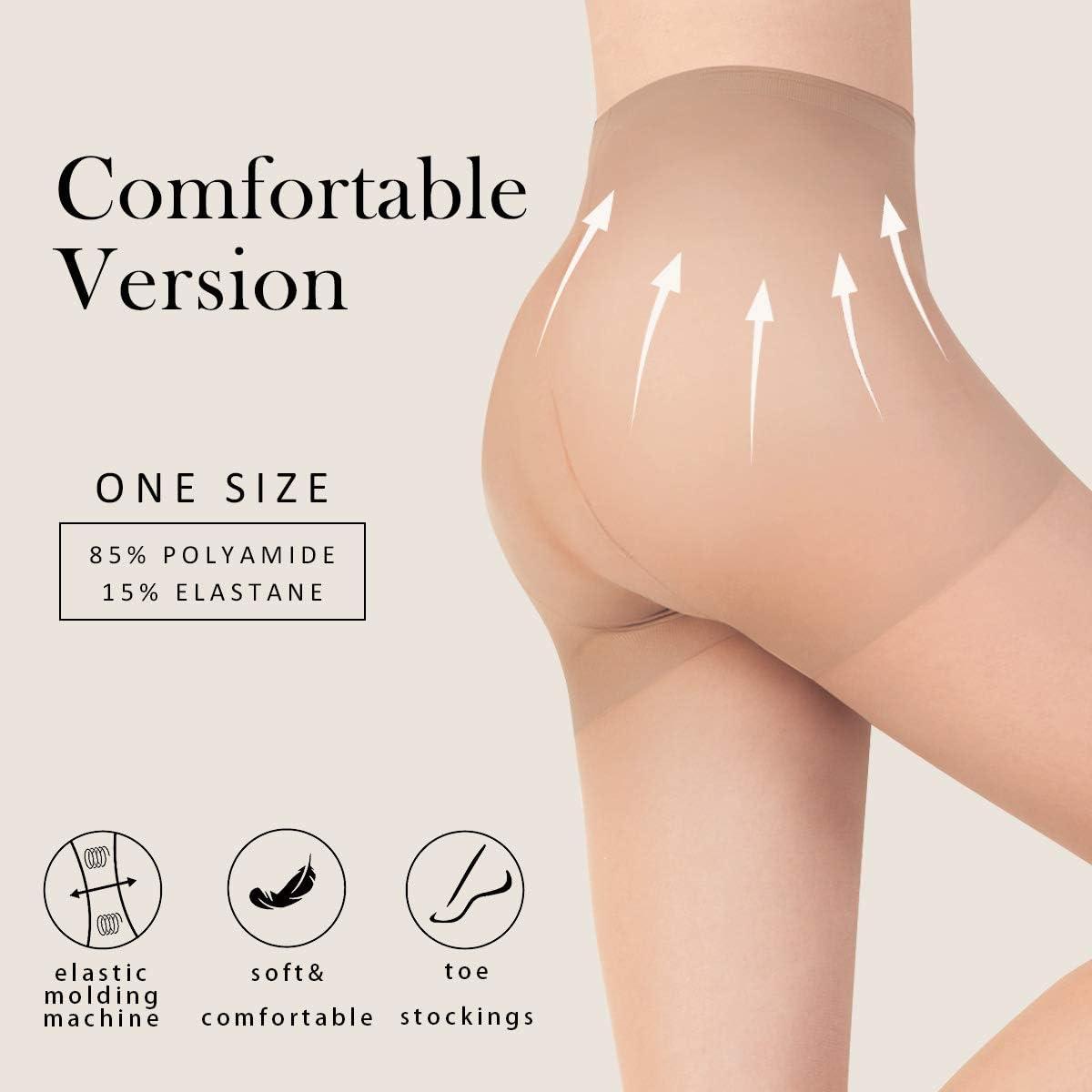 INTIM SECRET Calze Collant CPunta Invisibile Per Donna Vita Alta Resistente Taglia Unica Grande