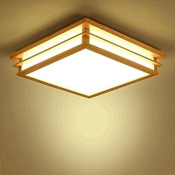 PIAOLING Lámparas de Techo de Madera Maciza nórdica, lámpara ...