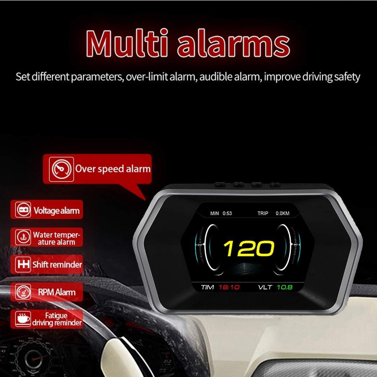 X6 3 Quot OBD2 HUD Head Up Display OBD2 Vehicle Speedometer Over Speed Alarm