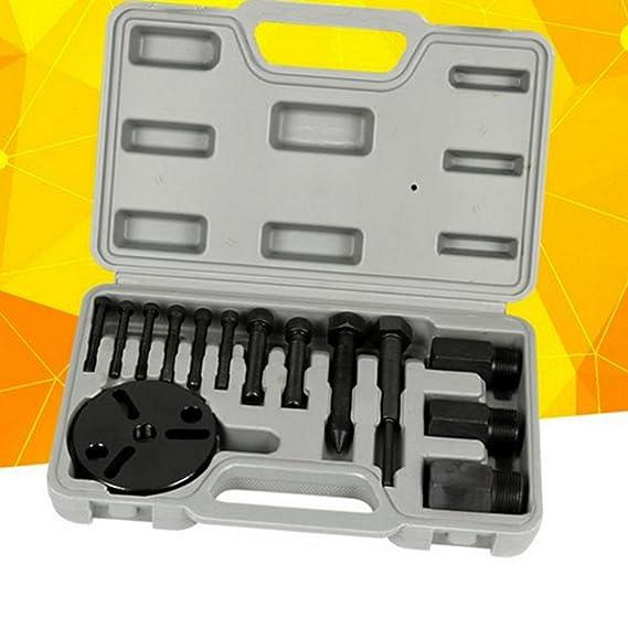 WEPECULIOR A/C R134a R12 Compresor Kit de Extractor de Embrague Extractor y Conjunto de Herramientas de Reparación de Instalador: Amazon.es: Coche y moto