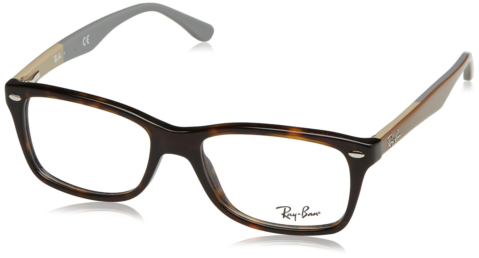 Ray-Ban Women's RX5228 Eyeglasses Sand Grey 55mm