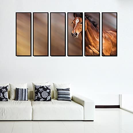 Amazon.com: 999Store multiple frames canvas printed horse Indian ...