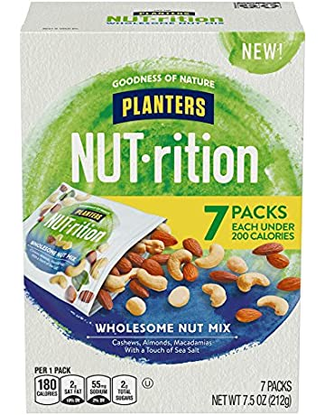 Planters NUT-rition Wholesome Nut Mix, 1.25 oz Bags (Pack of 6)