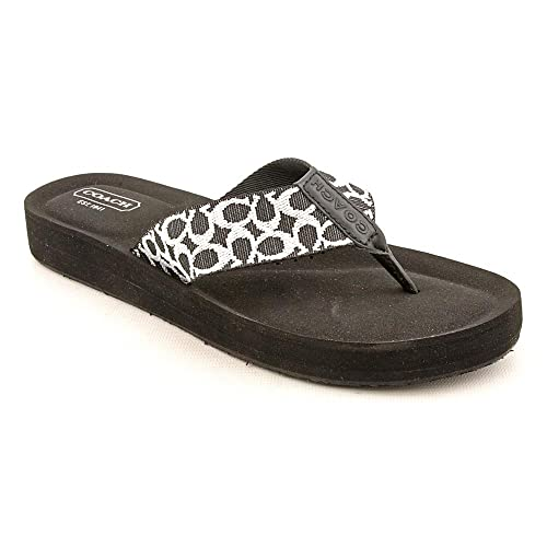 563fb2449 Coach Women s Jessalyn Webbing Sandal A0006 (Black Ivory