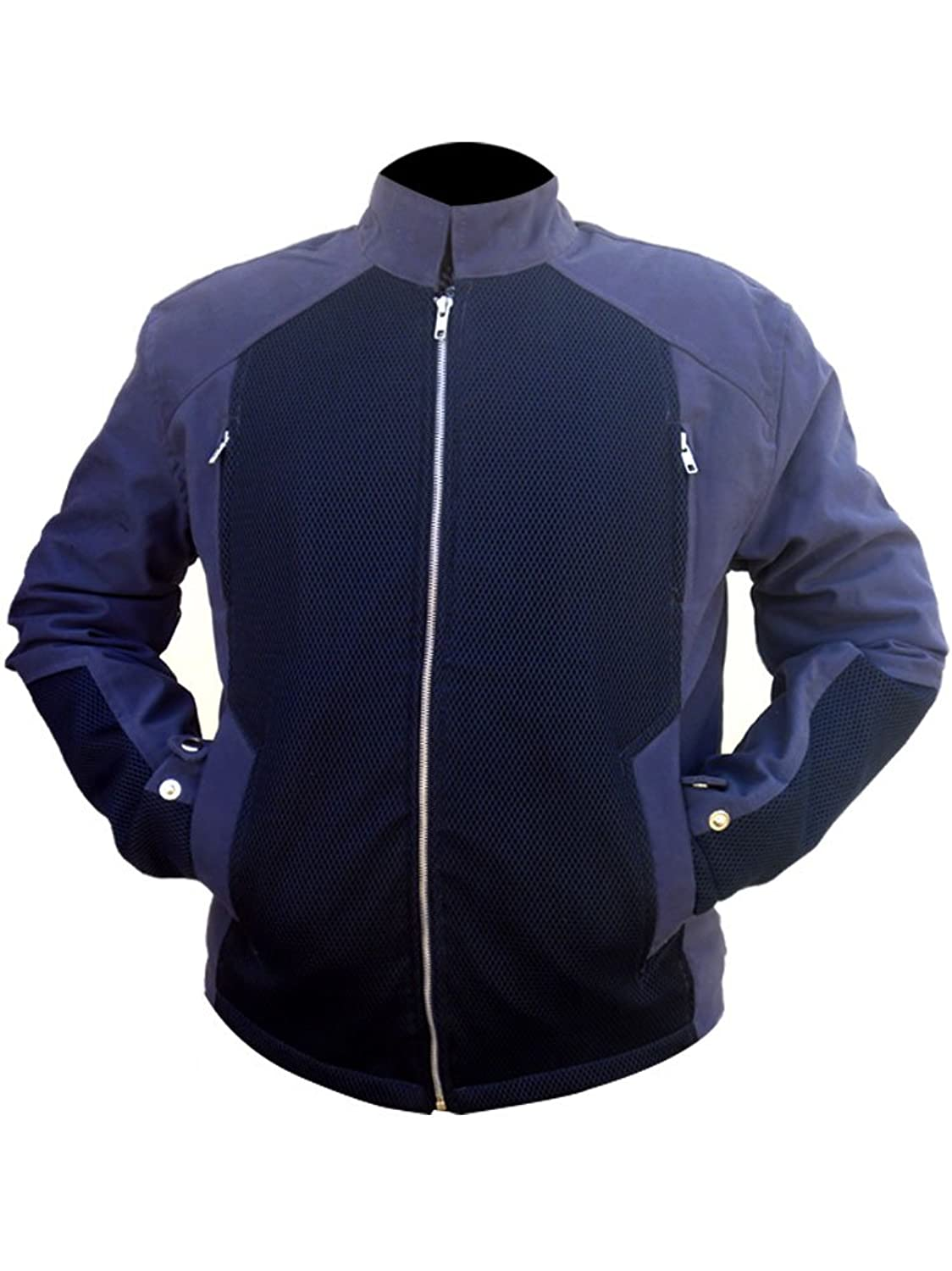 Captain America: Winter Soldier Steve Rogers Blue Fabric Jacket - DeluxeAdultCostumes.com
